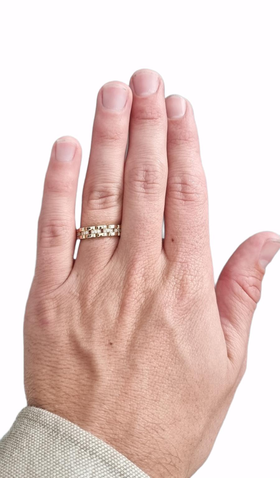 Ring rolexschakel met zirkonia's-2