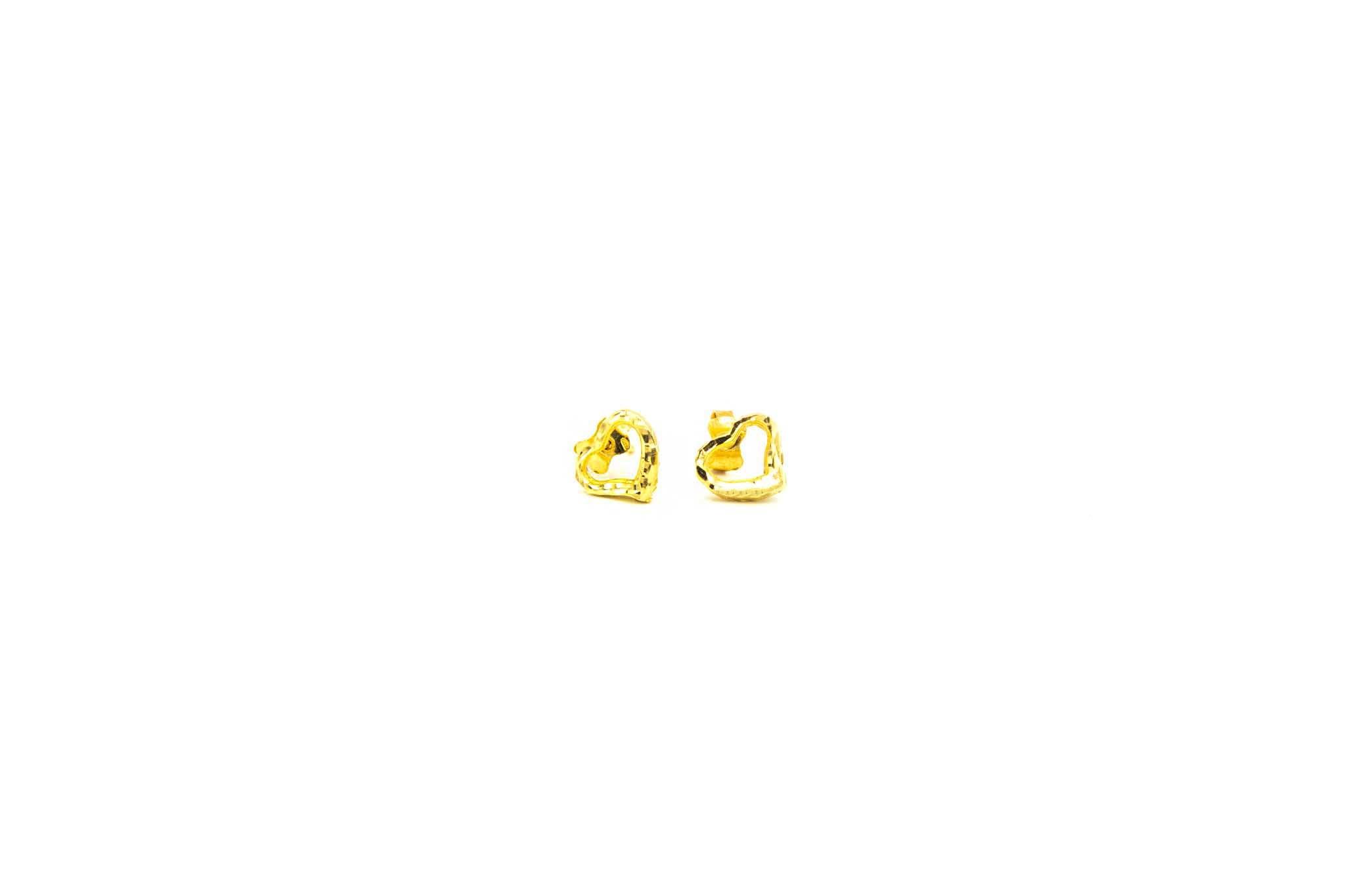 Oorbellen stekers open bewerkte hartjes-1