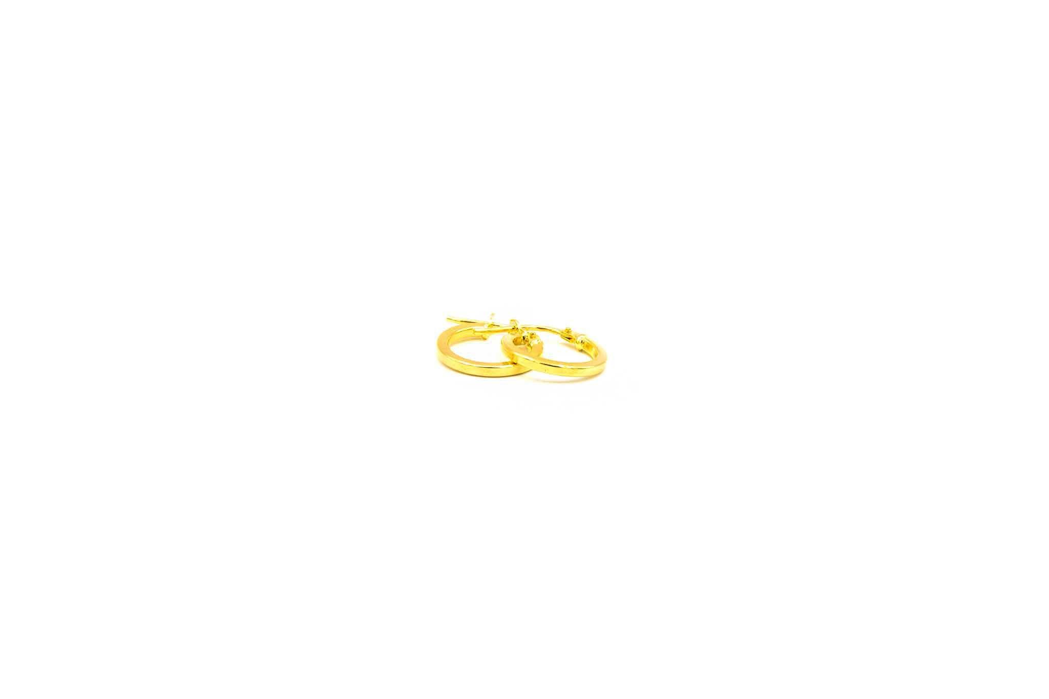 Oorbellen subtiele ringetjes afgeplat-3