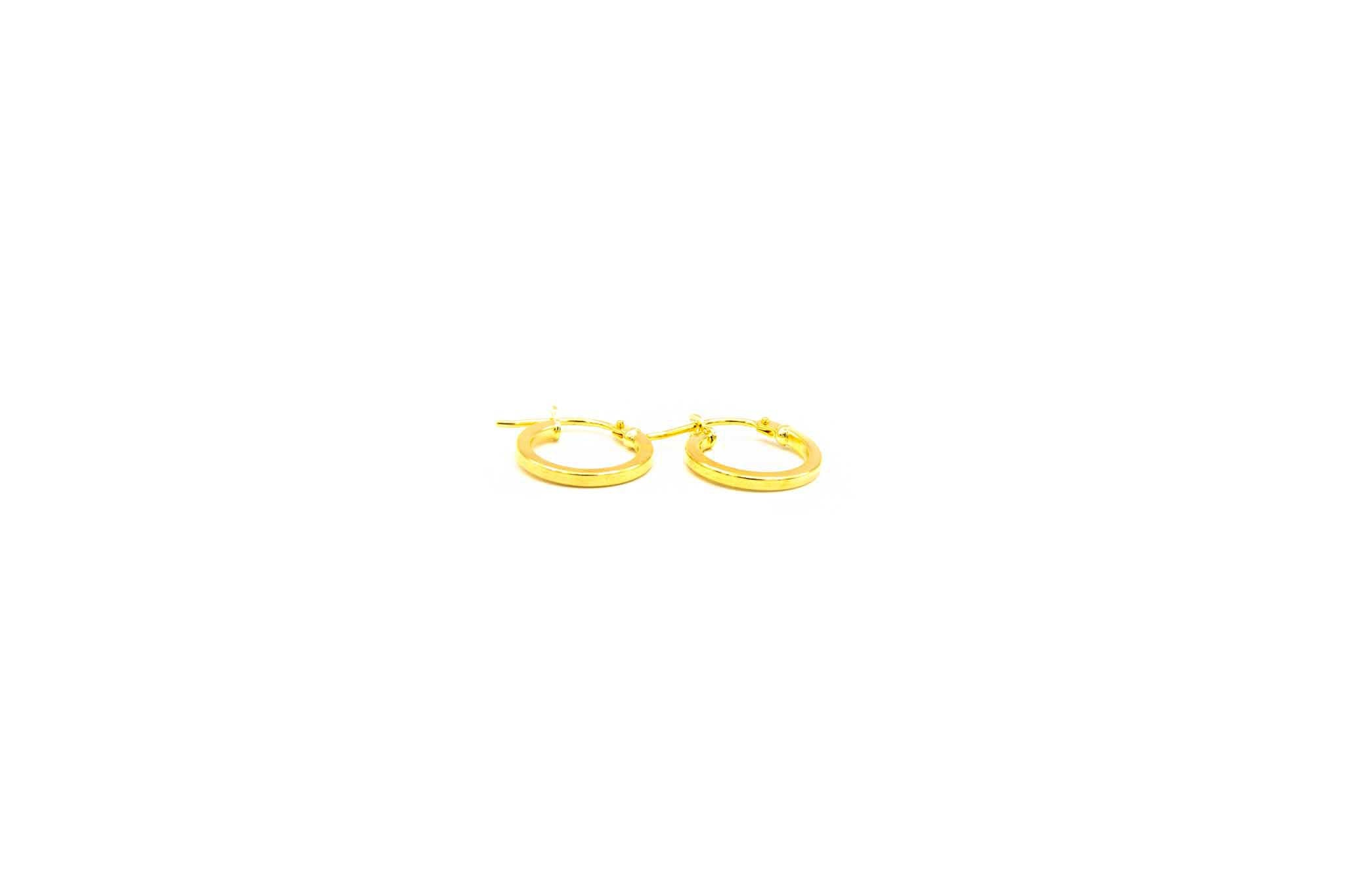 Oorbellen subtiele ringetjes afgeplat-1