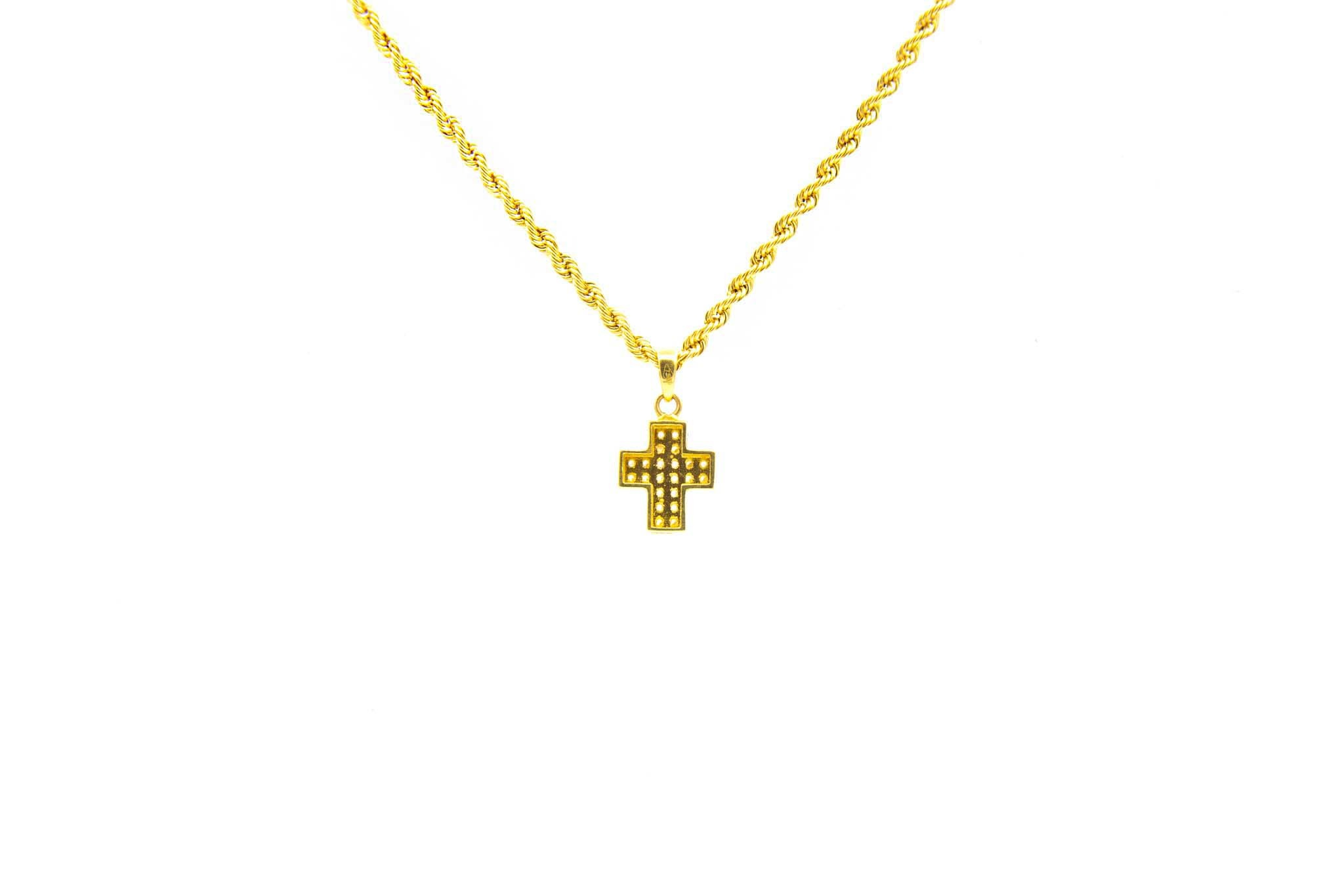 Hanger kruisje met zirkonia's-2