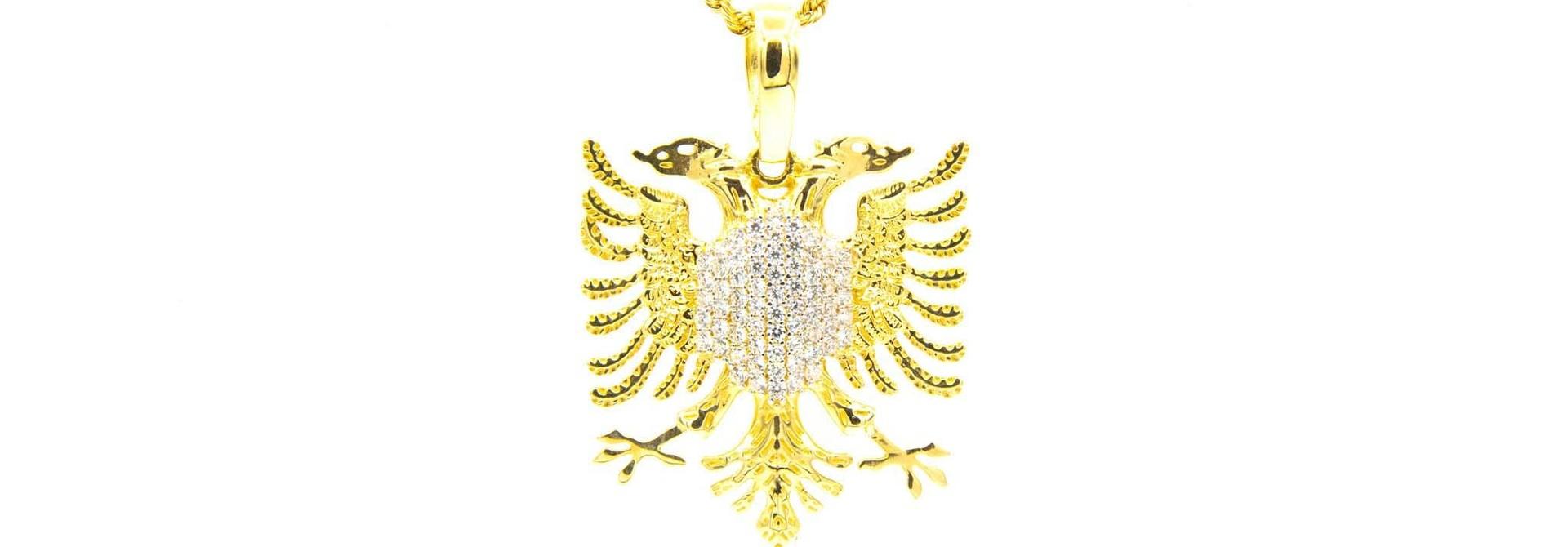 Hanger adelaar borst ingelegd met zirkonia's