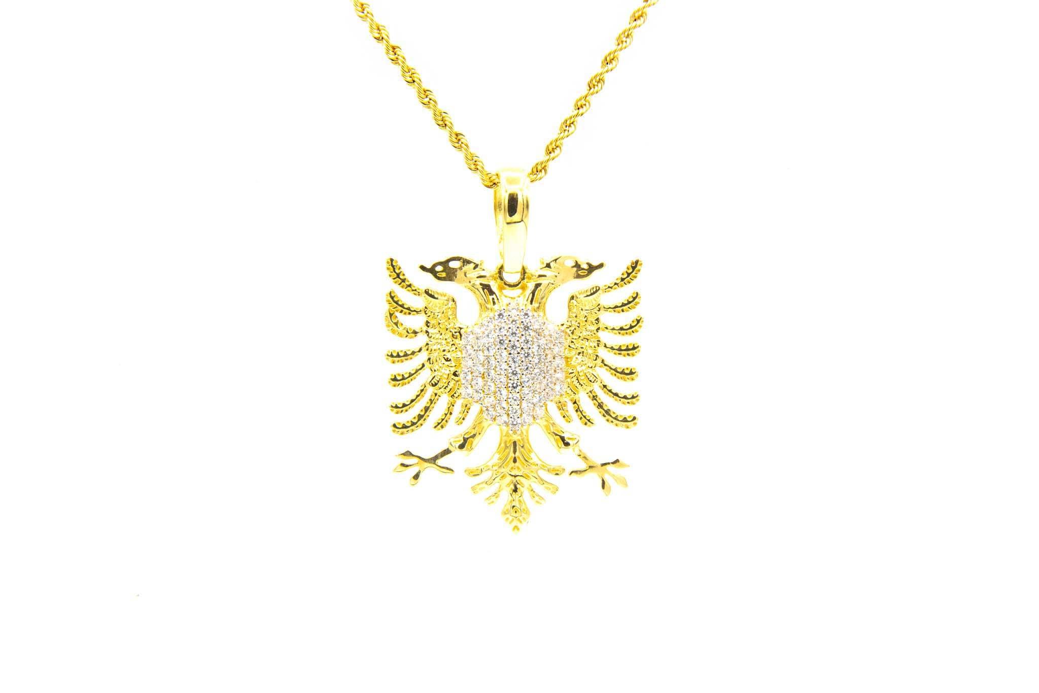 Hanger adelaar borst ingelegd met zirkonia's-1
