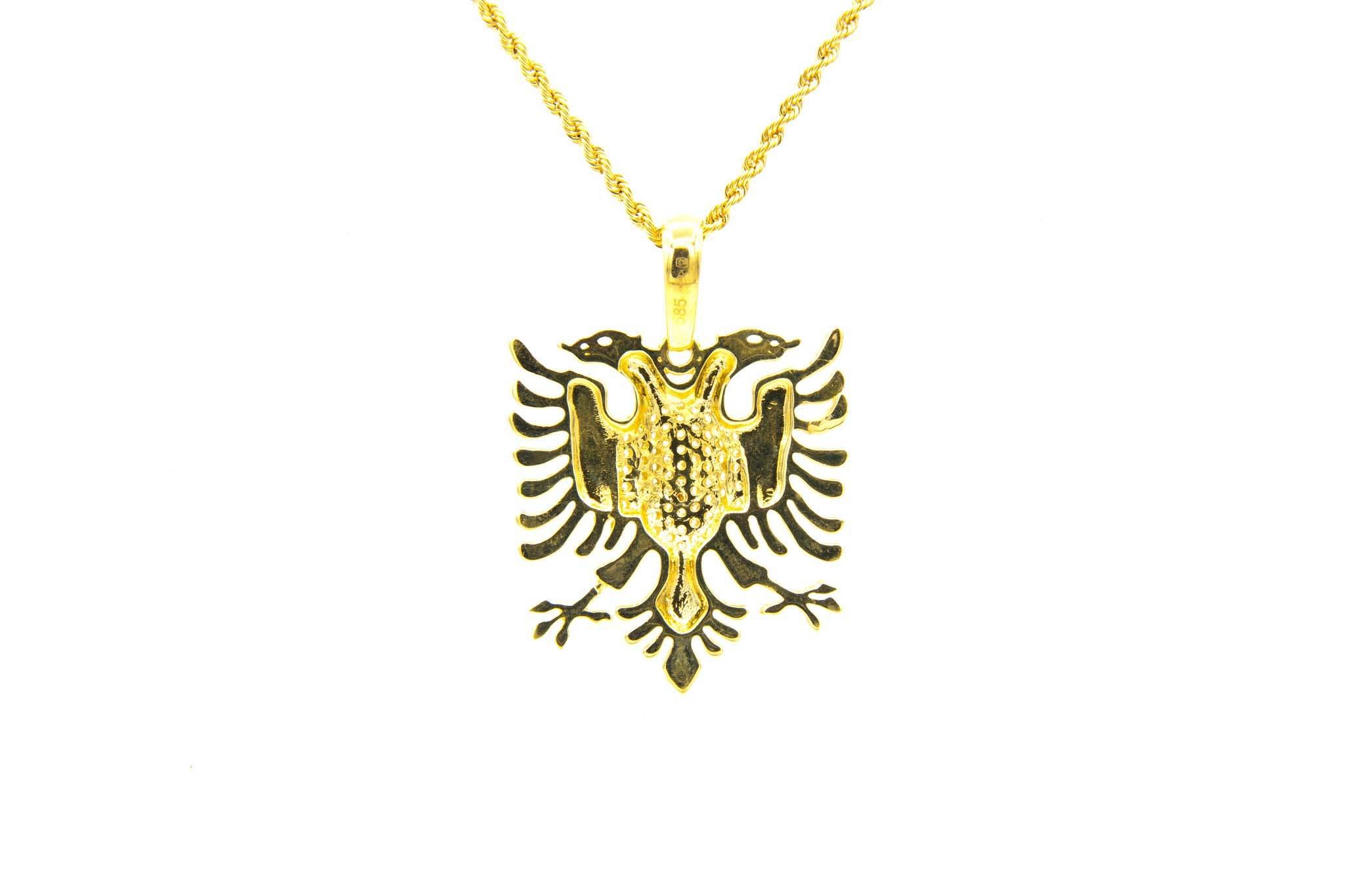 Hanger adelaar borst ingelegd met zirkonia's-2