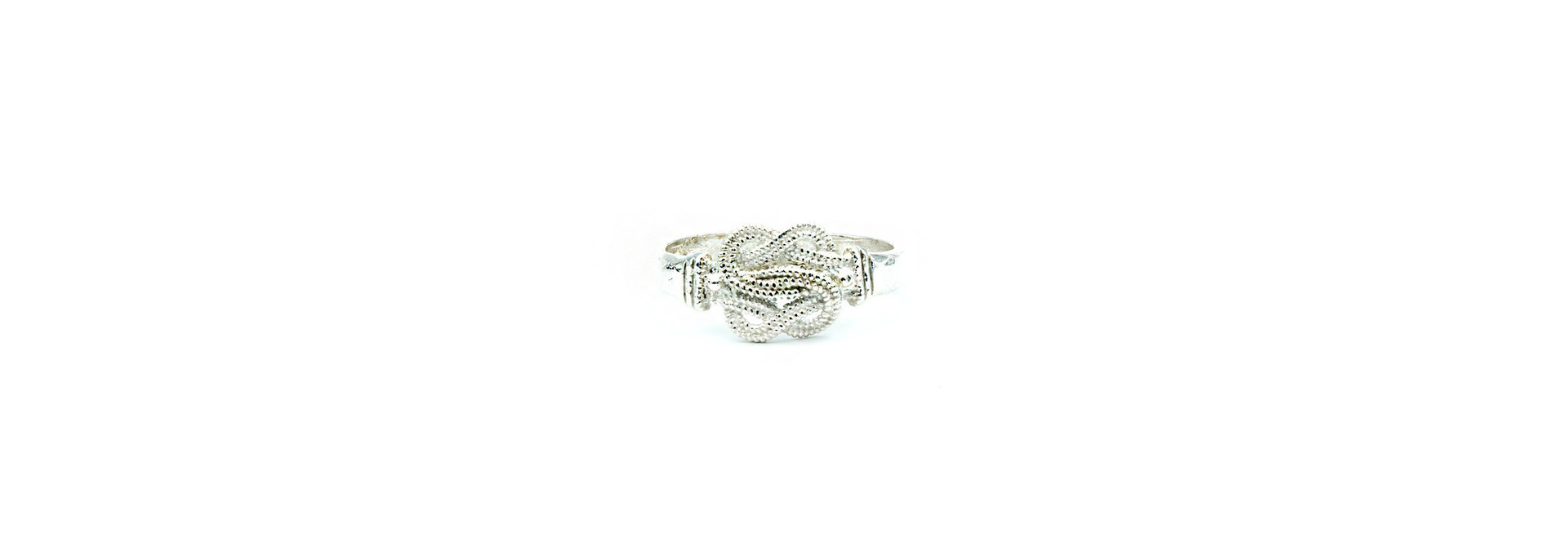 Ring mattenklopper diamond cut zilver