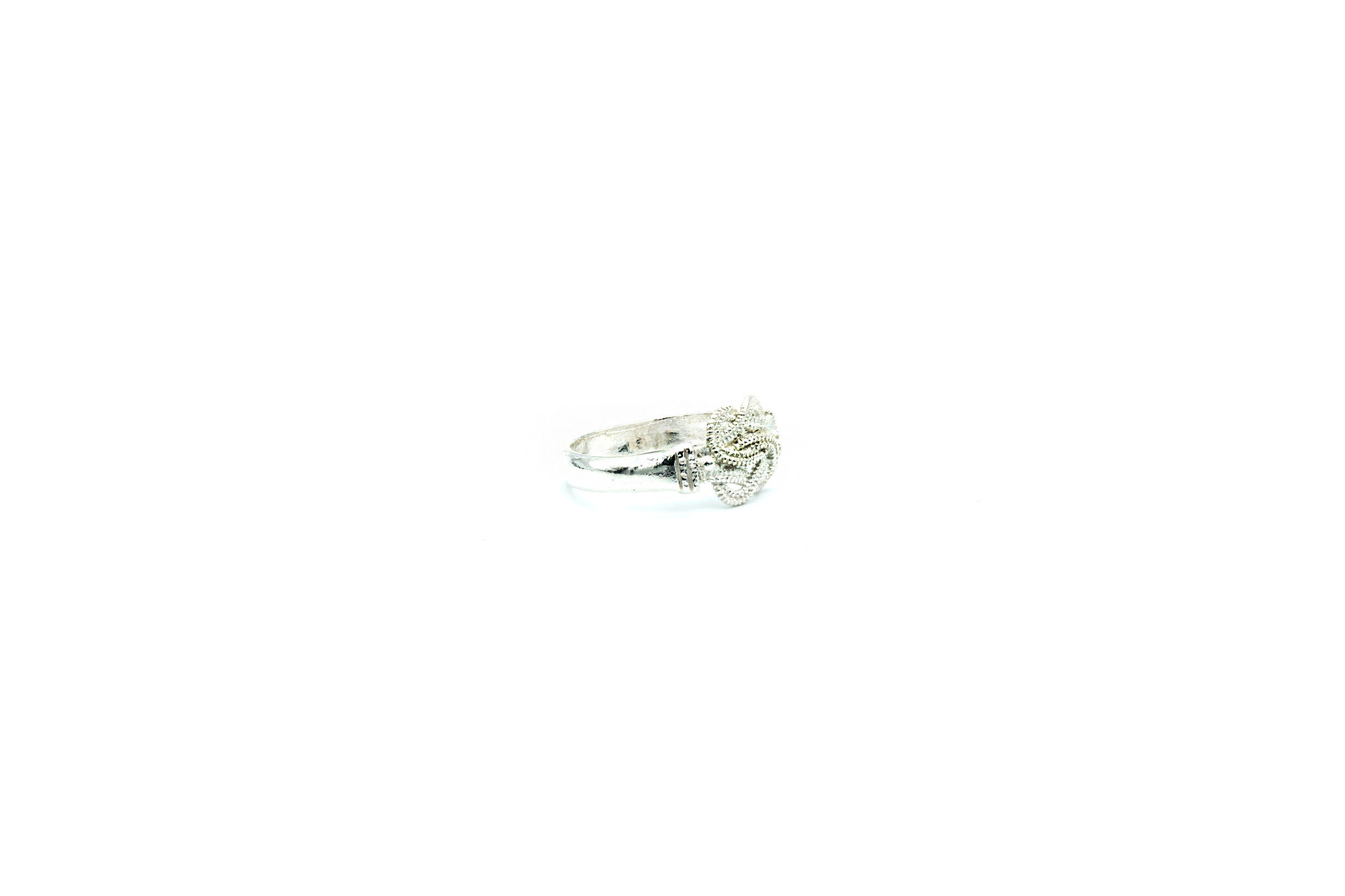Ring mattenklopper diamond cut zilver-2