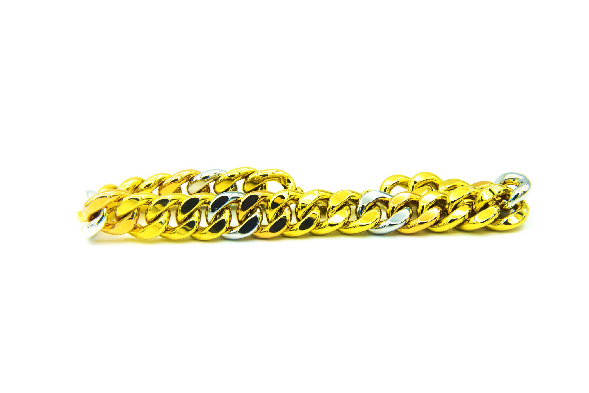Armband Cuban Link tricolor-2