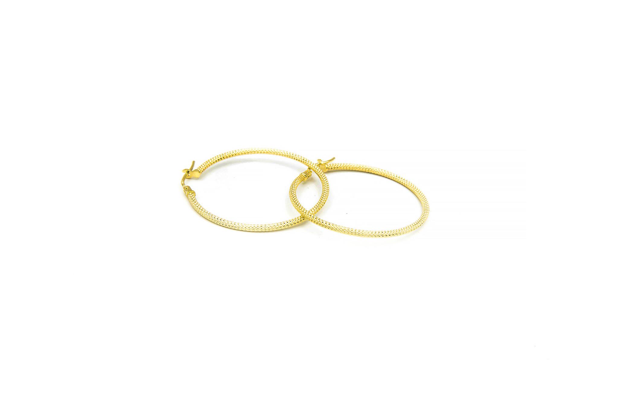 Oorbellen subtiele bewerkte ringen-3