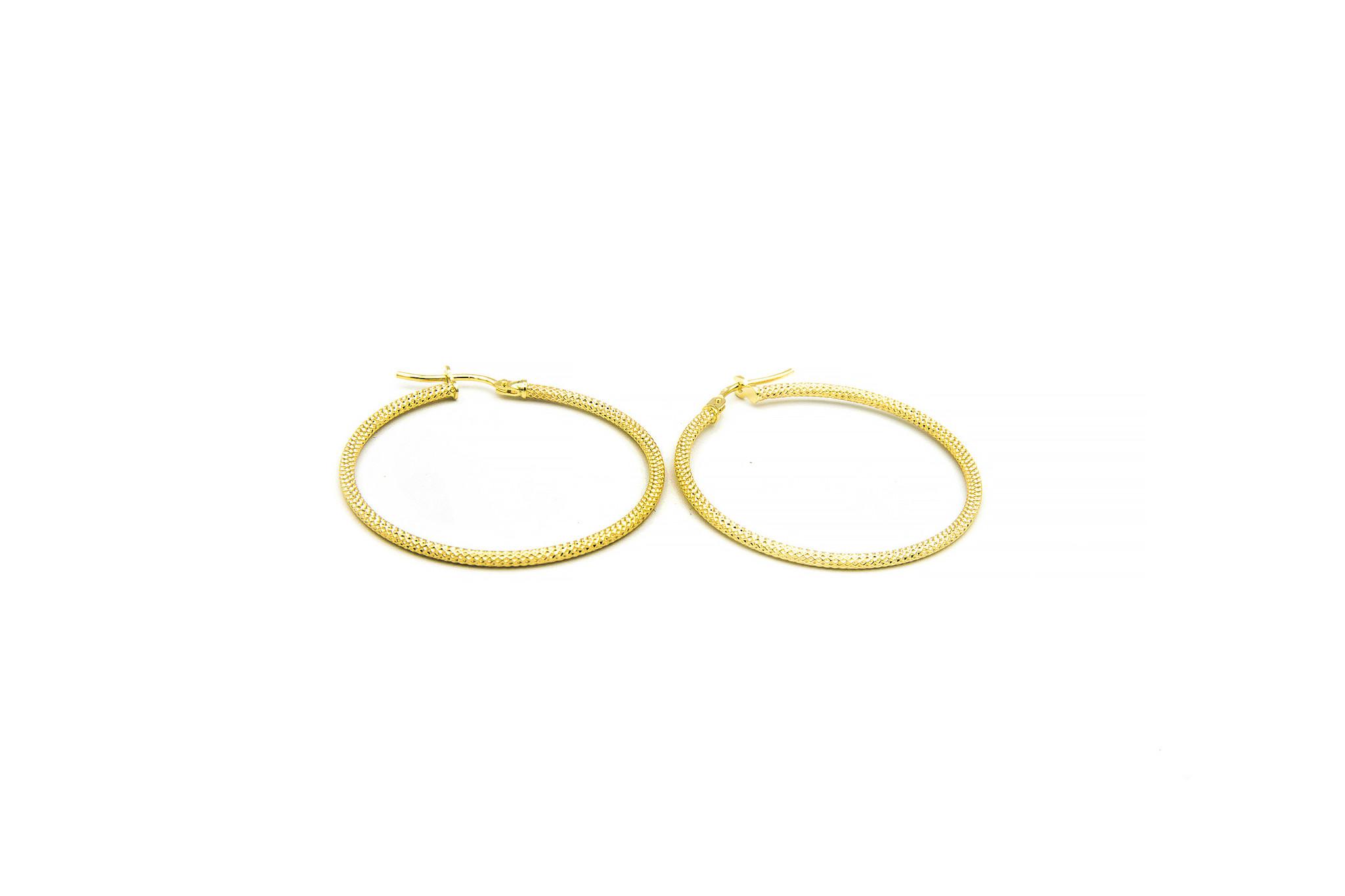 Oorbellen subtiele bewerkte ringen-2