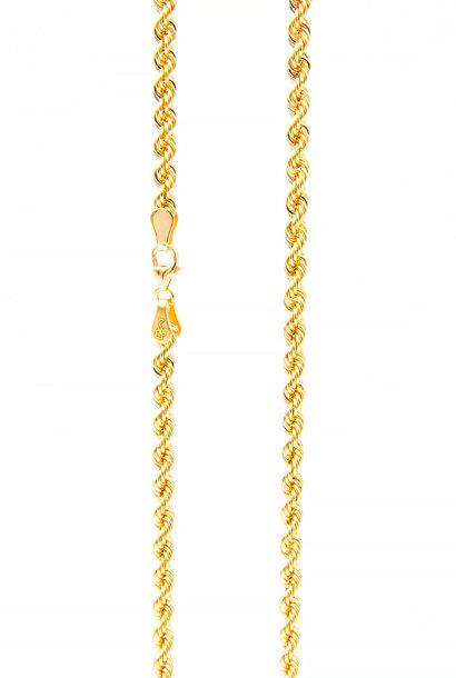 Rope chain roségoud 3mm