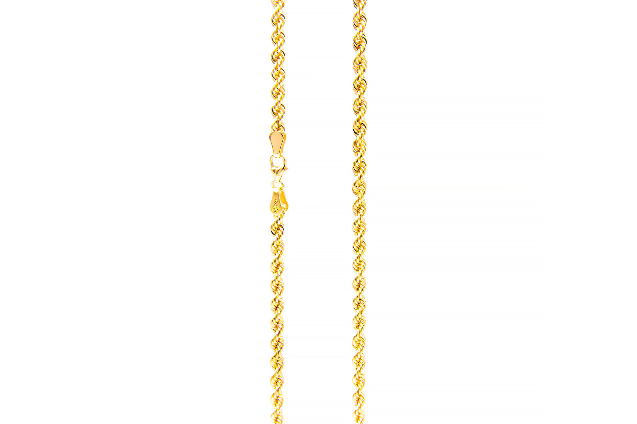 Rope chain roségoud 14kt 3mm-7