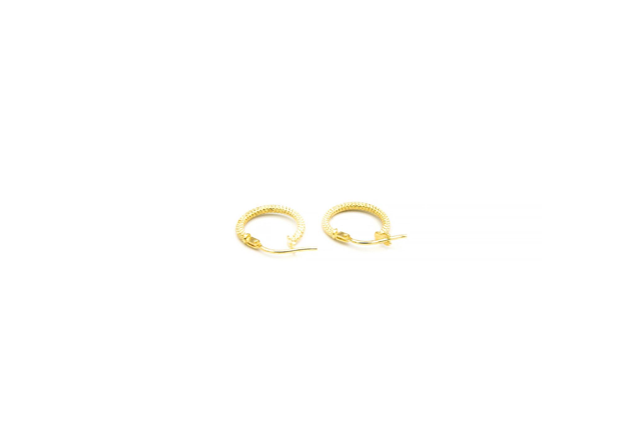 Oorbellen subtiele bewerkte ringen-5