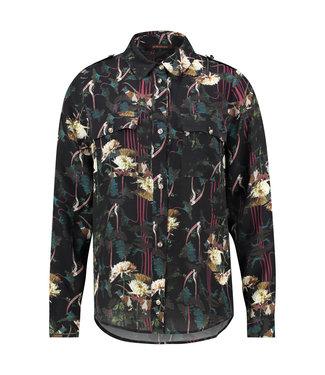 BARBARA - Lange blouse met print