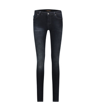 PARADISE - High waist used black/blue jeans