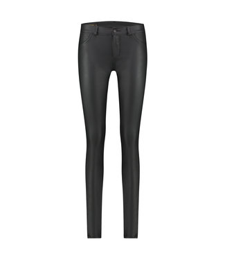 PARADY - Black faux leather jeans