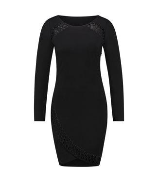 DANIELA - Korte zwarte pencil jurk