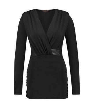 TALLY - Korte zwarte jurk