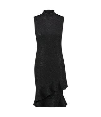 DEVIKA - Mouwloze zwarte jurk