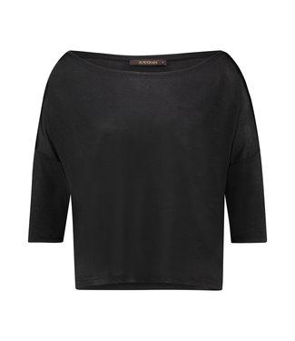 TODROS - Zwart dropped shoulder shirt