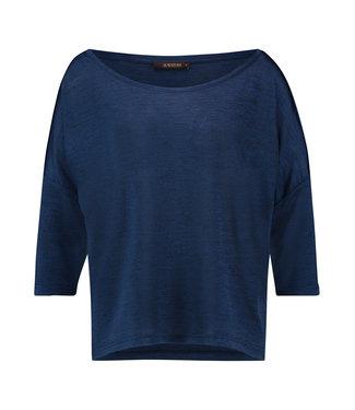 TODROS - Navy dropped shoulder shirt