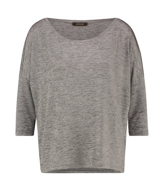TODROS - Light Taupe dropped shoulder shirt
