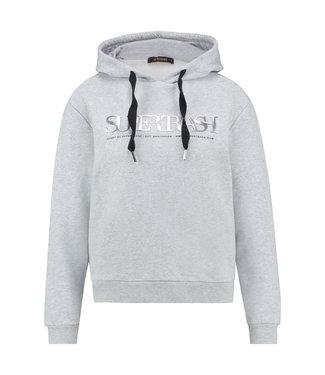 TOODY - Grijze logo hoodie