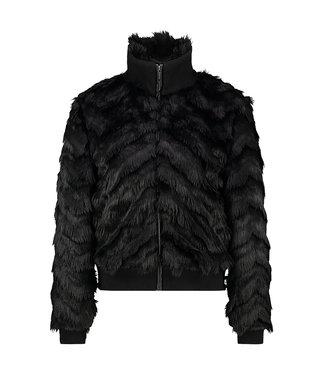 OSIA - Zwart faux fur kort jack