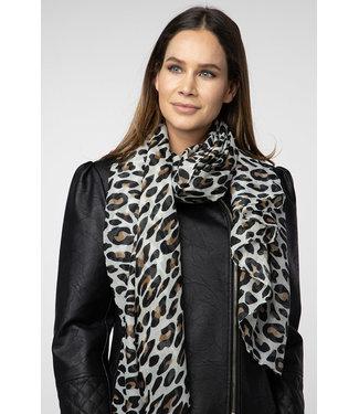 Animal print shawl