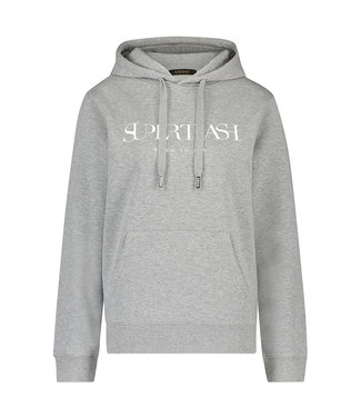 Supertrash TOODY - Grijze Hoodie met wit logo