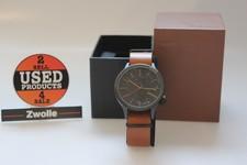 KOMONO Horloge Black/Cognac