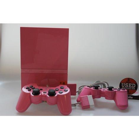Playstation 2 slim roze met memorycard en 2 controllers
