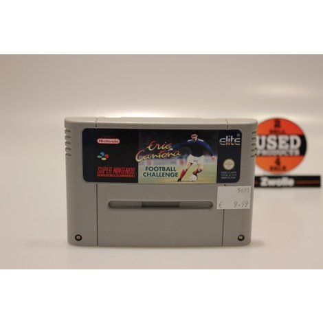 Super Nintendo Game Eric Cantona Football Challenge