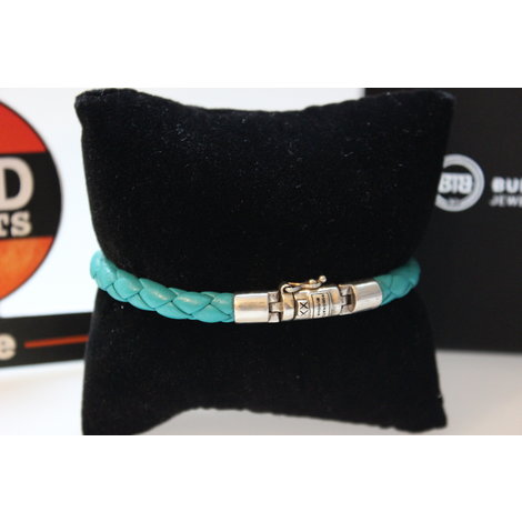 Buddha to Buddha armband Ben XS Leather Aqua