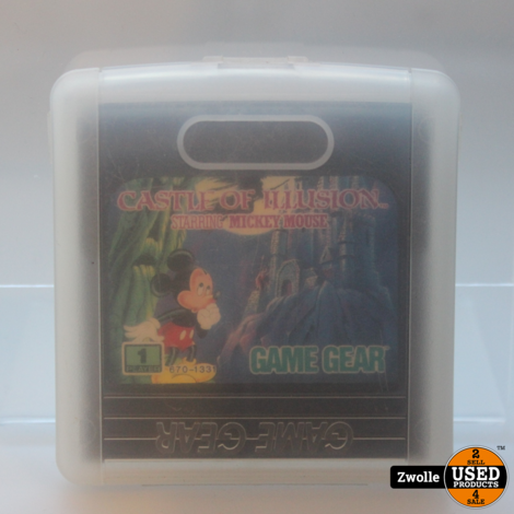 GAME GEAR GAME Mickey Mouse Castle of Illusion