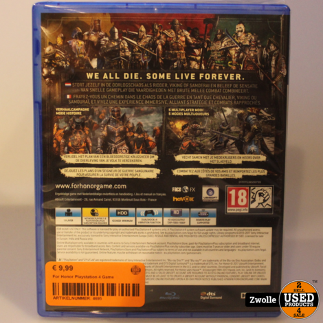 For Honor Playstation 4 Game