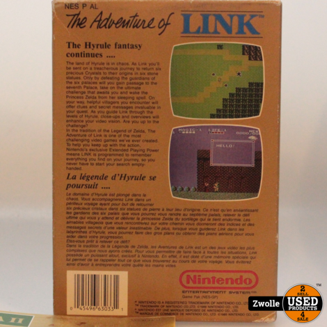 Nes game Zelda II The Adventure of Link in doos