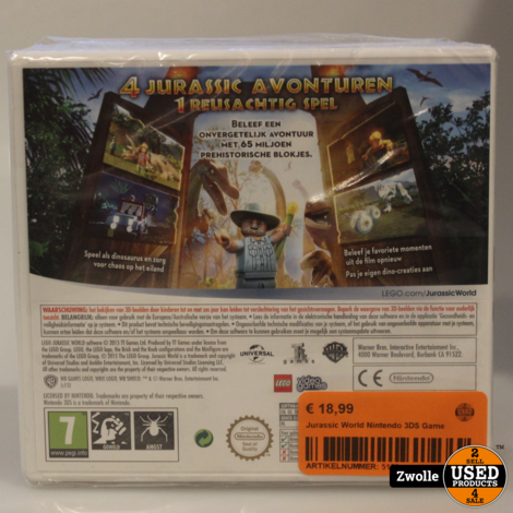 Jurassic World Nintendo 3DS Game