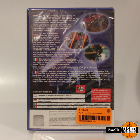 Sly Raccoon Playstation 2 game