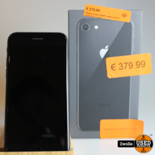 apple iPhone 8 zwart 64GB   apple care tot 20-01-2021   zgan