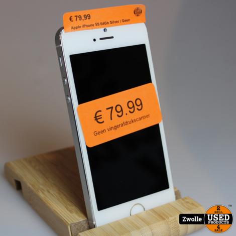 Apple iPhone 5S 64Gb Silver | Geen vingerafdrukscanner