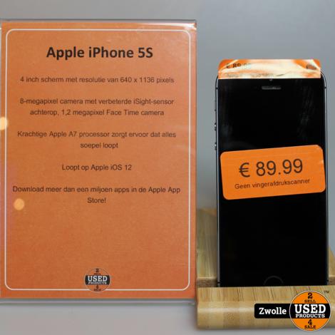 Apple iPhone 5S 64GB Space Grey | Geen vingerafdrukscanner
