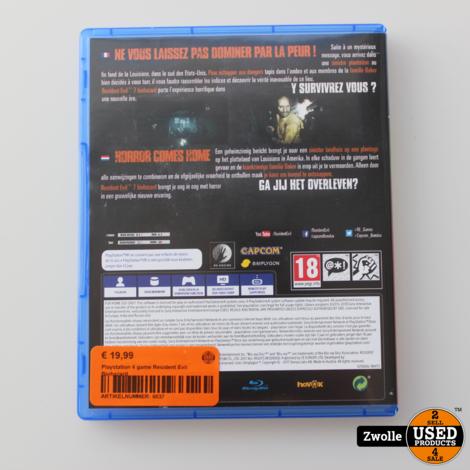 Playstation 4 game Resident Evil Biohazard