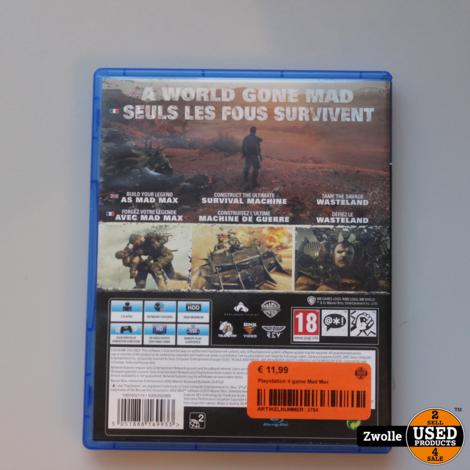 Playstation 4 game Mad Max