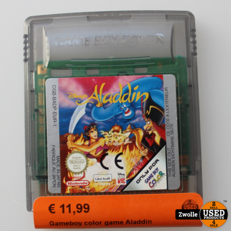 Gameboy color game Aladdin