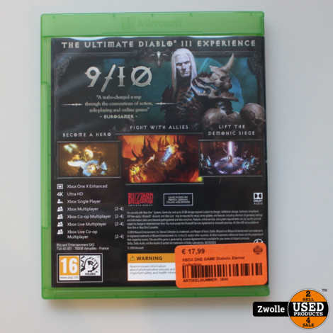 XBOX ONE GAME Diabolo Eternal Collection