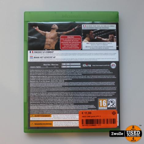 XBOX ONE game UFC 2