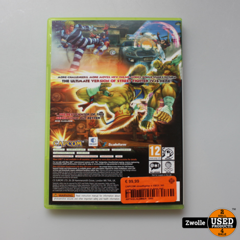 CAPCOM streetfighter 4 XBOX 360 controller | compleet in doos met game