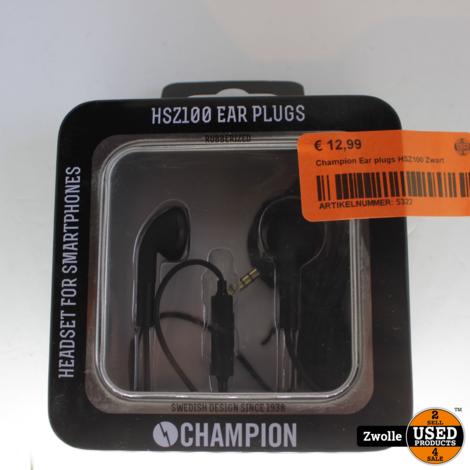 Champion Ear plugs HSZ100 Zwart