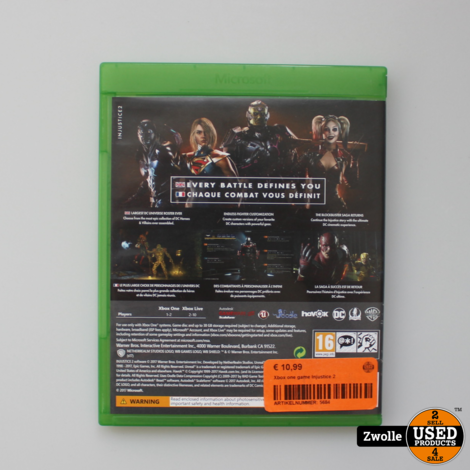 Xbox one game Injustice 2