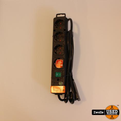 BN-1153100100 | Brennenstuhl Stekkerdoos 4-Wegs 2 m Zwart - 4 x Sc
